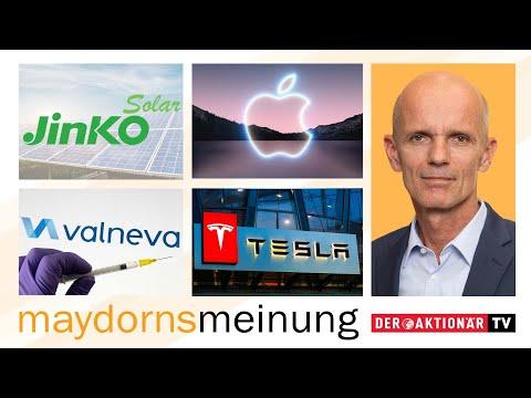 Maydorns Meinung: Valneva, Apple, BYD, Varta, JinkoSolar, Tesla, Livent, ITM Power, Nel