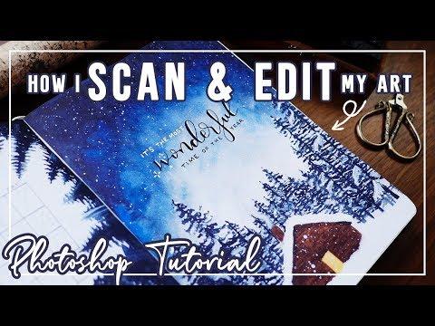 How I Scan & Edit My Artwork (Photoshop Tutorial) thumbnail