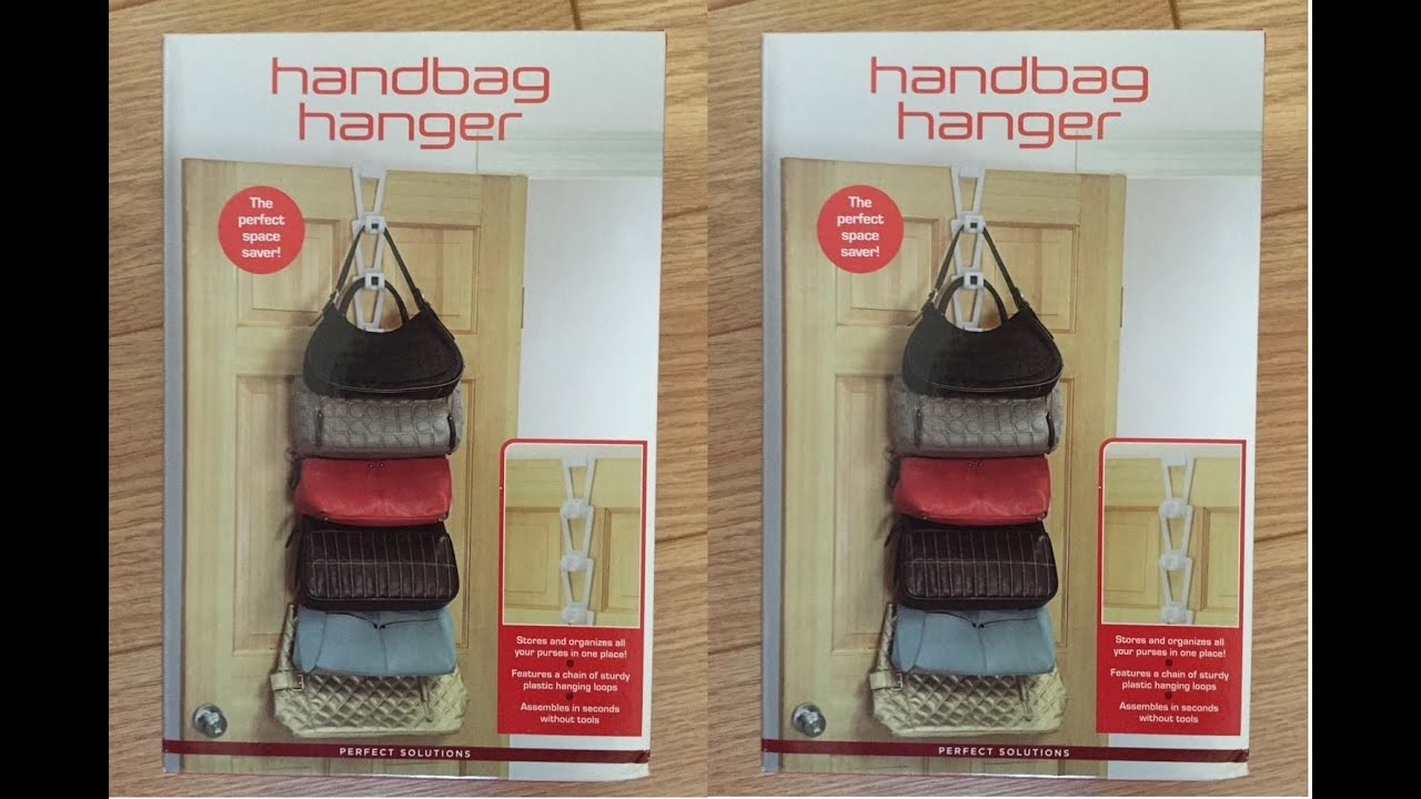 Handbag Hanger, A Perfect Solution For Organizing Your Handbags   YouTube