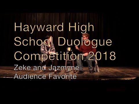 Hayward High School Duologue Competition 2018 - Zeke and Jazmyne (Audience Favorite)