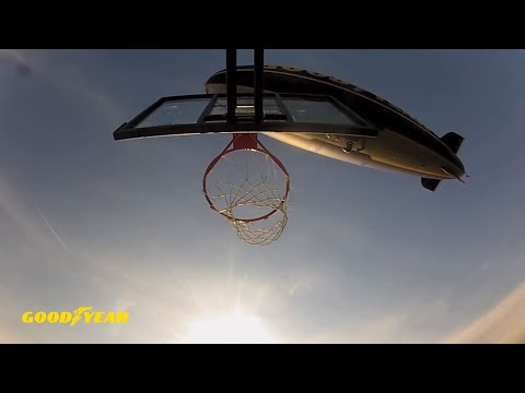 Dude Perfect Basketball Shot From Goodyear Blimp - Goodyear Tires