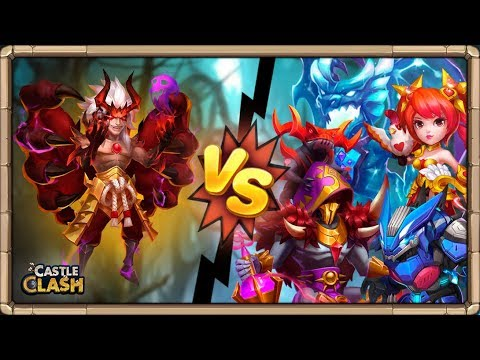 TEST FOBOS Vs HEROES *BRUTAL* | Castle Clash