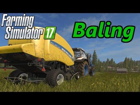 Farming Simulator 17 Tutorial   Baling (Hay, Silage, Straw)