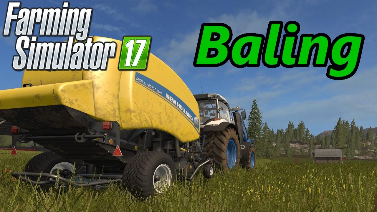 Farming Simulator 17 Tutorial | Baling (Hay, Silage, Straw)