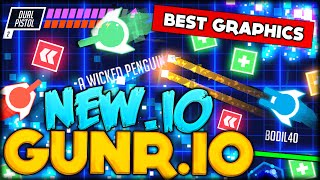 THE BEST NEW .IO GAME! NEVER SEEN BEFORE BEAUTIFUL IO GRAPHICS (Gunr.io - like Agar.io / Slither.io)