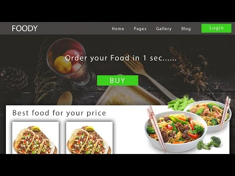 Web Design UI Concept for Food Ordering - Speed Art Tutorial thumbnail