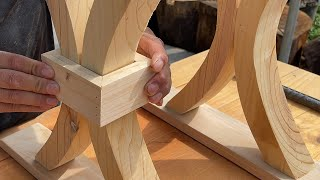 Watch How He Turns Waste Wood Into A Beautiful Table! // The Perfect Wood Recycling Project Ever