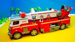 Paw Patrol, Unboxing, Fire Department, Training Station, Headquarters, Movie for Kids