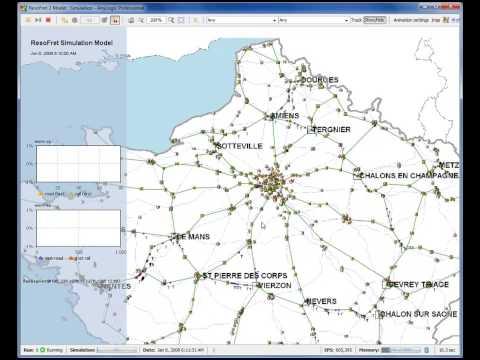 Optimizing French Railway Freight Traffic - Simulation Model Demo