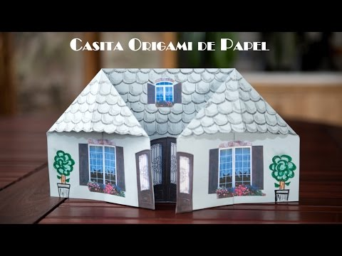 Casita Origami de Papel Facilísima Para Jugar
