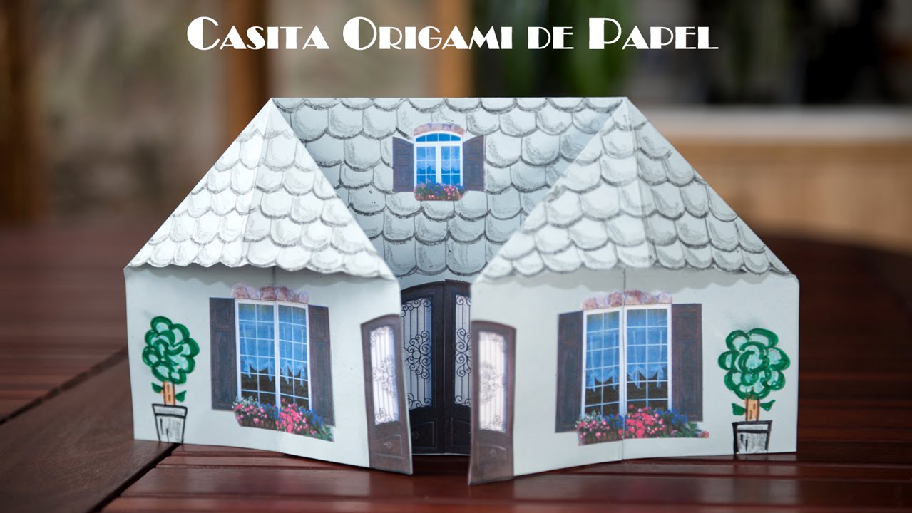 Casita Origami de Papel Facilsima Para Jugar  YouTube