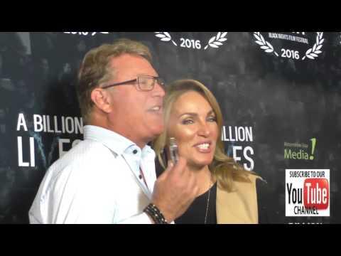 Christopher Rich and Ewa Jesionowska at the LA Premiere Of Award Winning Documentary A Billion Lives
