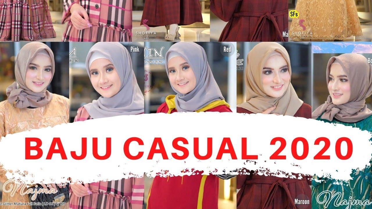 Model Busana Muslim Casual Modern Terbaru 2020 Wa 087832842558 Gamis Pesta Muslim Youtube