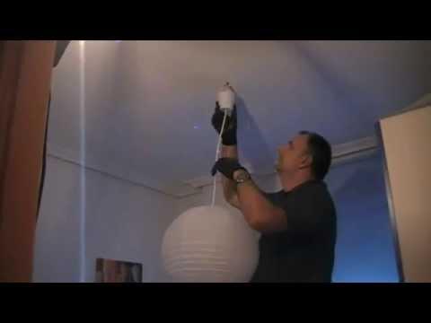 Como poner una lámpara de techo.