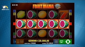 Fruit Mania 'Golden Nights' - Gamomat Automat - sunmaker