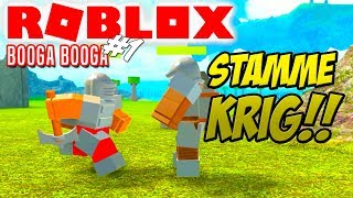 TRIBAL WAR! -Roblox Booga Booga English