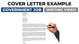 Cover Letter Example For Government Job Application 2021 Youtube