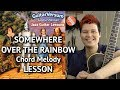 SOMEWHERE OVER THE RAINBOW - Guitar LESSON - Chord Melody
