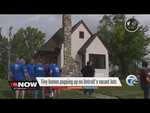 Tiny homes popping up on Detroit's vacant lots