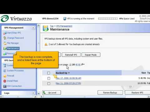Virtuozzo Linux - How to backup and restore your VPS - YouTube