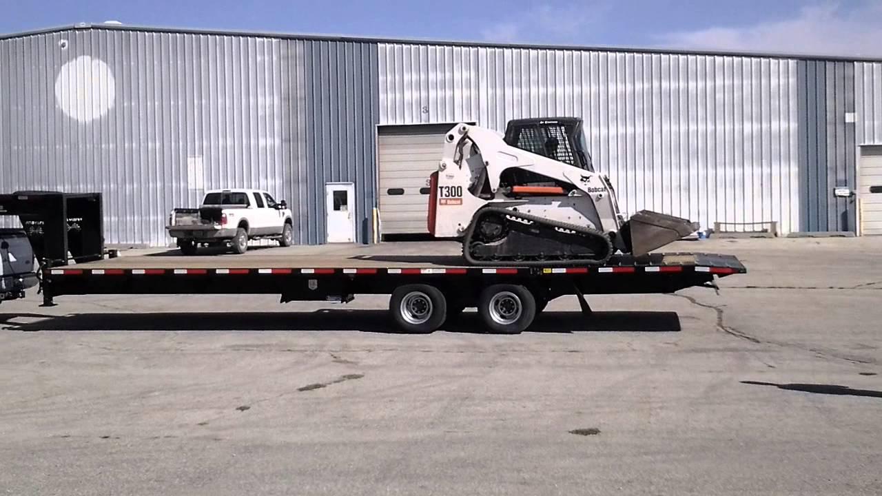 Finish Line Trailers Loading Amp Unloading T300 Bobcat On