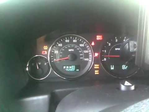 Jeep Commander dash lights flashing on and off