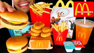 ASMR MCDONALD'S CHICKEN NUGGETS HAPPY MEAL CHEESEBURGER FRIES EATING SHOW MOUTH SOUNDS SPACE JAM