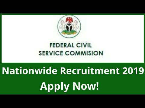 Federal Civil Service Commission Nationwide Recruitment 2019 || Nigerian Jobs