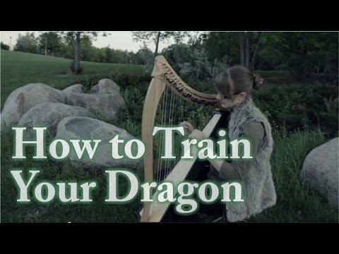 How to Train Your Dragon Medley - Harp Cover - Samantha Ballard