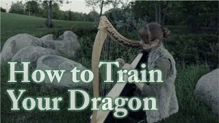 How to Train Your Dragon Medley - Harp Cover - Samantha Ballard