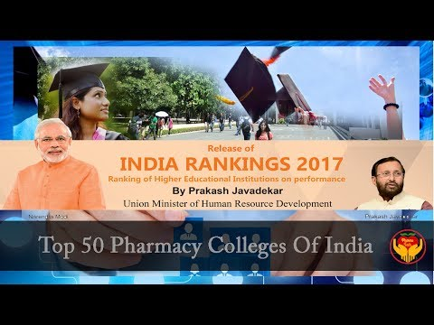 Top 50 Pharmacy Colleges of India as per NIRF Ranking