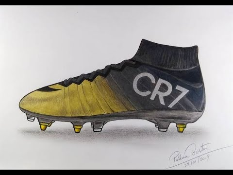 the best attitude 0c974 f758d CHUTEIRA NIKE MERCURIAL CR7 RARE GOLD - HOW TO DRAW FOOTSTEPS