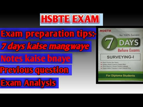 HSBTE EXAM TIPS