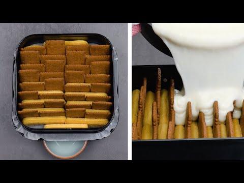 Видео: Нежный торт из печенья без выпечки: очень простой и вкусный десерт