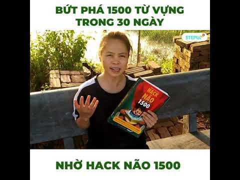 mua sách hack não 1500 từ vựng tiếng anh - Bứt phá 1500 từ vựng tiếng Anh trong 30 ngày nhờ Hack Não 1500 - CCTC - Step Up English