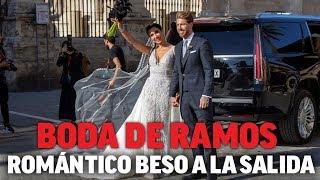 Pilar Rubio y Sergio Ramos protagonizan un romántico beso tras darse el