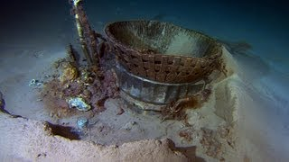Remote Operated Vehicles recovering Apollo F-1 engines 3 miles beneath Atlantic (Bezos Expeditions)