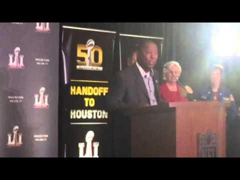 Sylvester Turner Houston Mayor At Super Bowl LI Presentation #SB51 #SB50