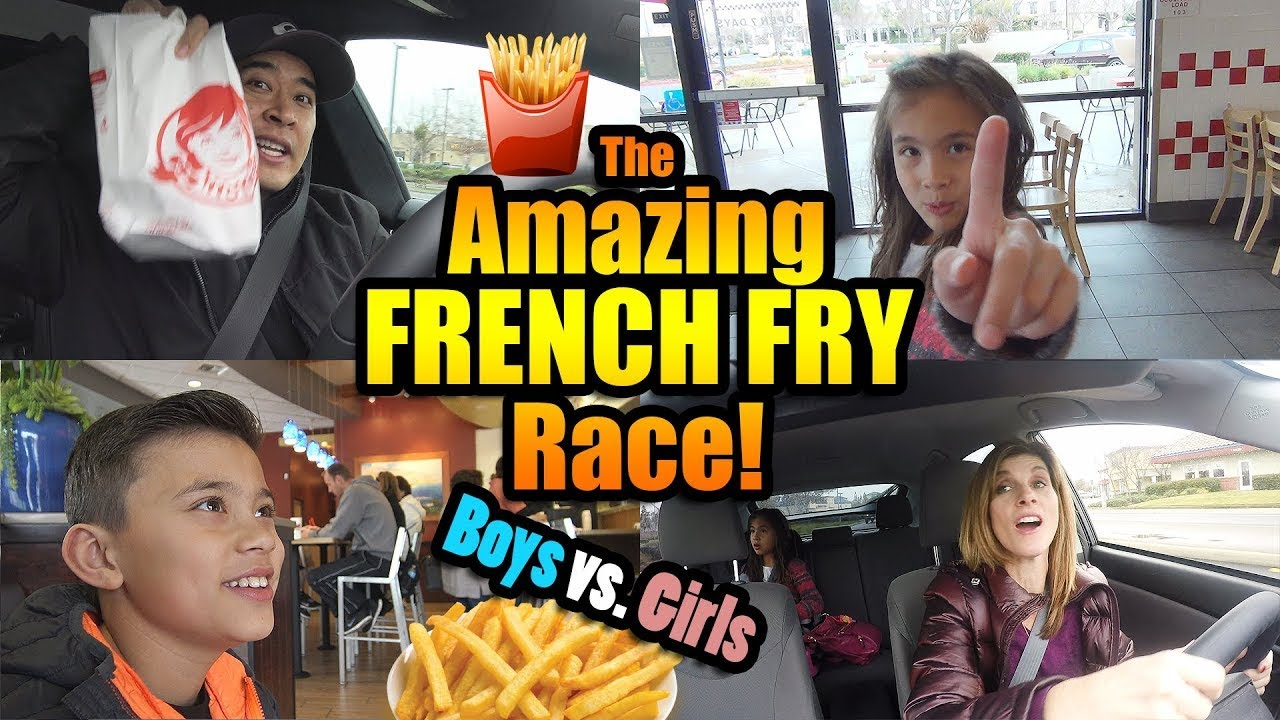 THE AMAZING FRENCH FRY RACE: Tesla vs Prius!!! FLASHBACK WEEK #2