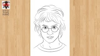 potter harry outline easy characters drawing draw sketch step