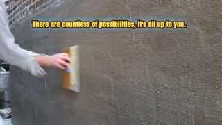 plastering mortar stucco patching over brick with mortar