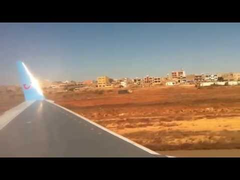 Thomson air plane take off from Cape Verde