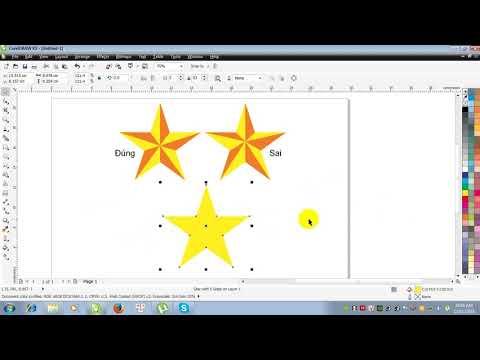 Hướng dẫn vẽ ngôi sao trong corel