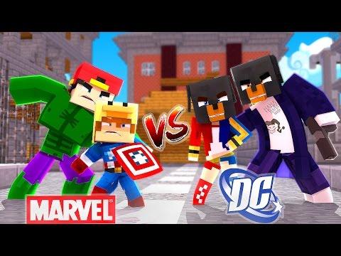 Minecraft - MARVEL Vs DC - HARLEY QUINN DEFEATS THE HULK - Little Club Baby Max, modded mini game thumbnail
