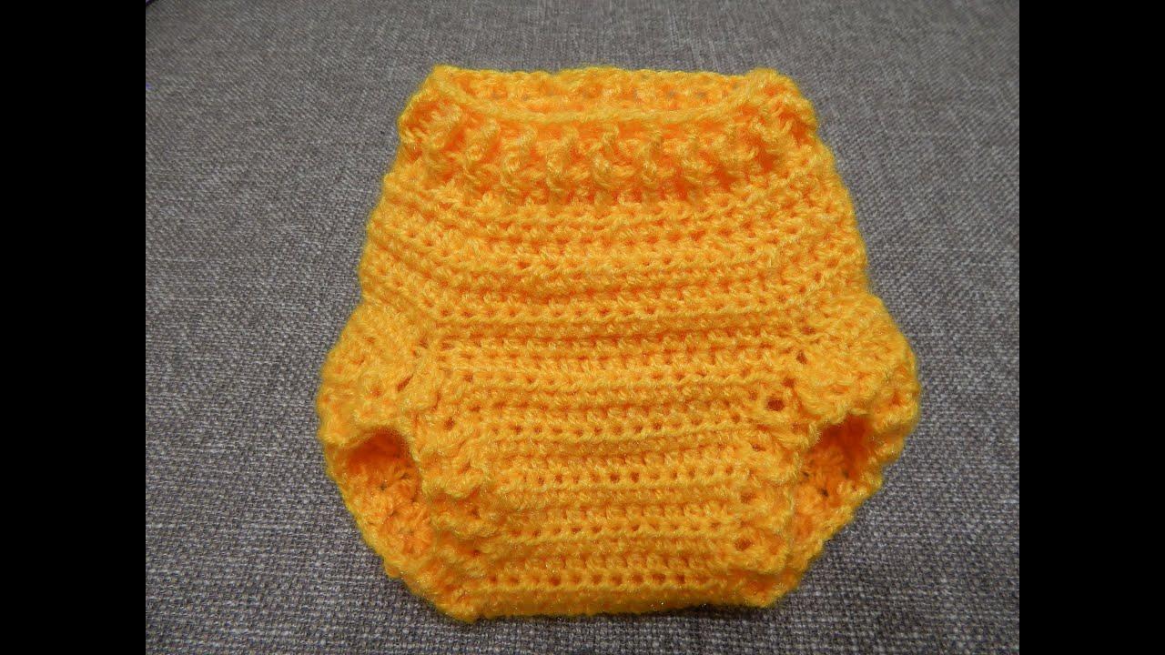 Cubre Pañal Crochet - YouTube