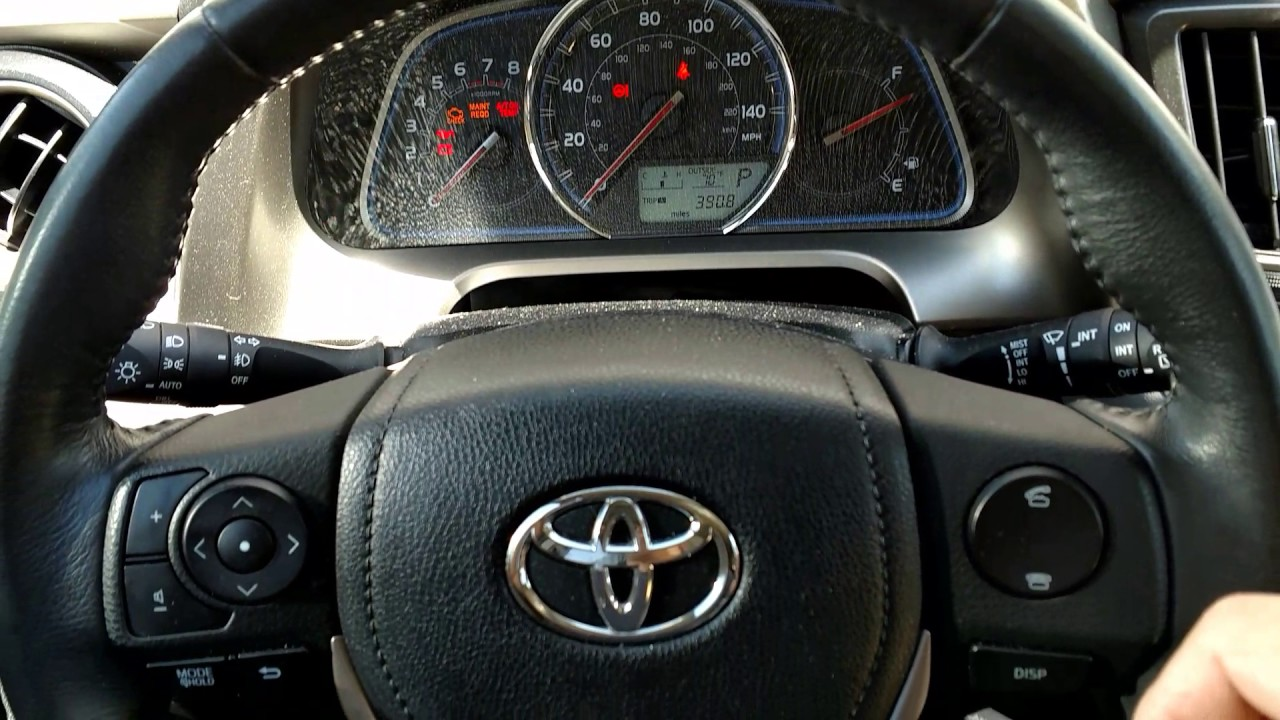 How To Reset A Maintenance Light On A 2013 Toyota Rav4