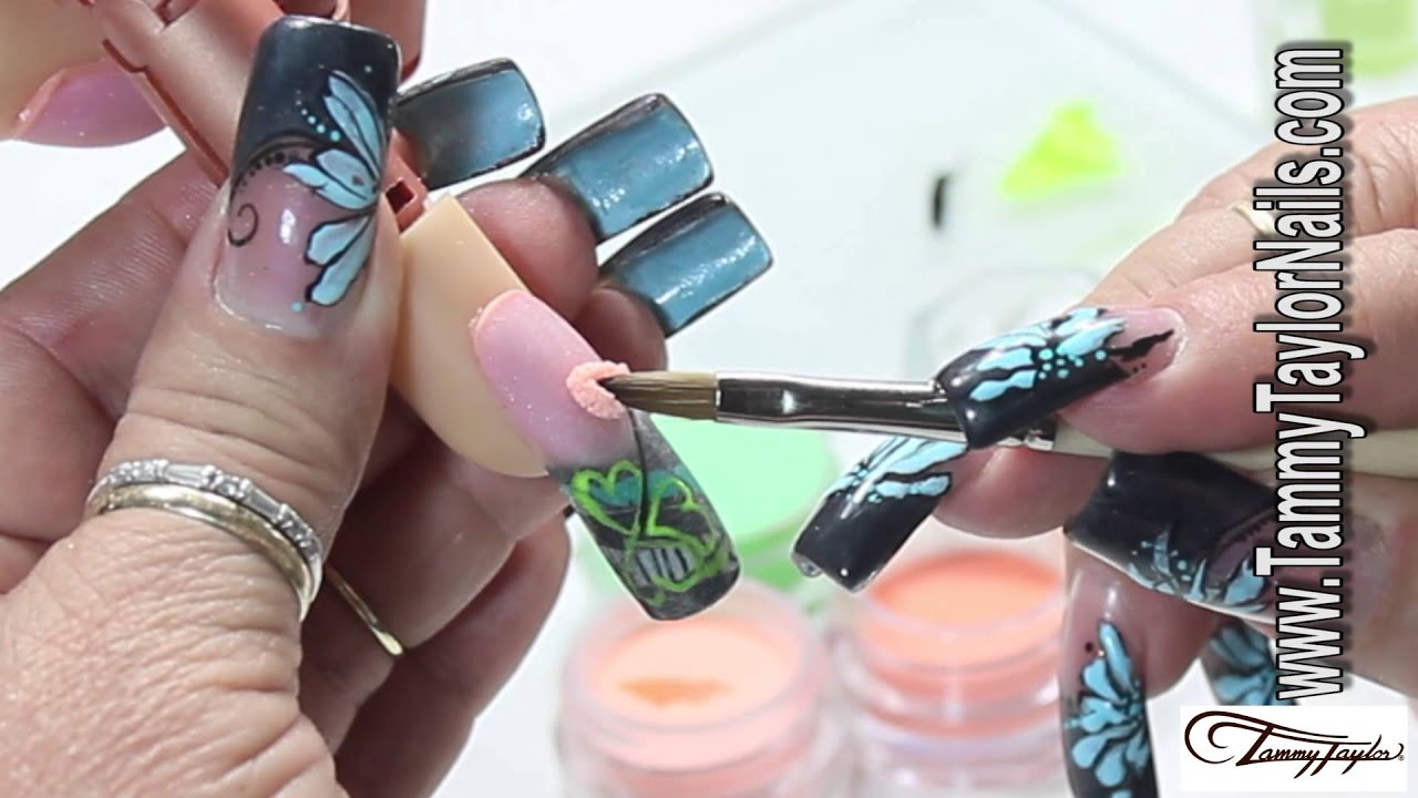 ♡ Tammy Taylor - Irish Leprechaun Nail Design - YouTube