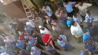 مظاهره القلج  ضد مجزره حكومه الانقلاب