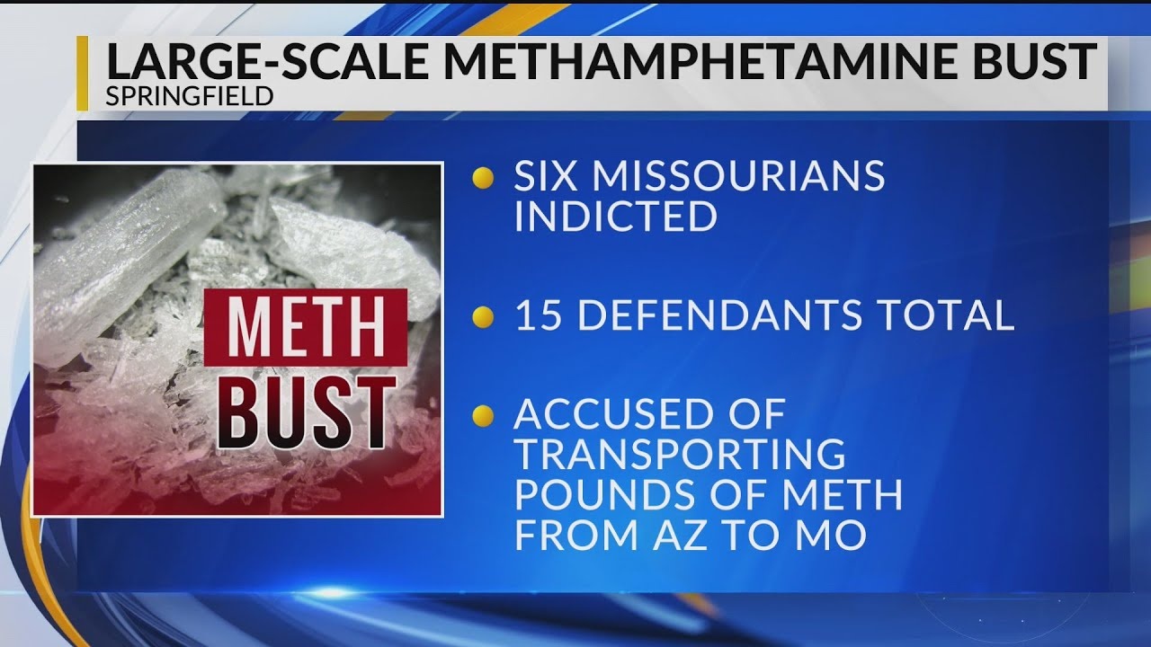 Six Missourians among 15 indicted for large-scale meth conspiracy