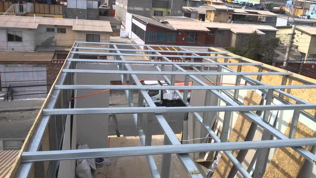 Construcci n de un tercer piso en estructura metalica y metalcom por david castellano youtube - Estructuras de metal ...